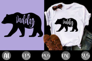 Print on Demand: Daddy Bear Funny T-shirts Dads Gift Idea Graphic Print Templates By creative_design915