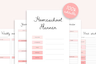 Editable Homeschool Planner   40+ Pages Graphic K By DesignStudioTeti