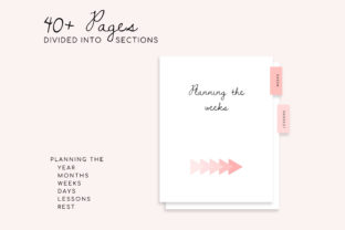 Editable Homeschool Planner   40+ Pages Graphic K By DesignStudioTeti 3