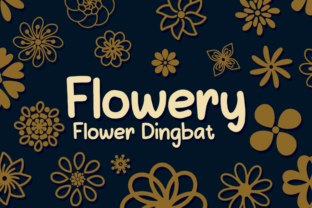 Print on Demand: Flowery Dingbats Font By Letterayu
