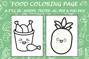 Food Coloring Page 10 - Kdp Interiors Graphic Coloring Pages & Books Kids By Kdp Speed