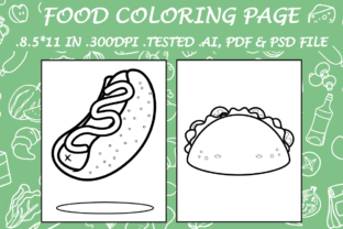Food Coloring Page 13 - Kdp Interiors Graphic Coloring Pages & Books Kids By Kdp Speed