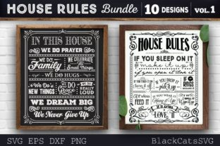 Print on Demand: House Rules Bundle SVG 10 Designs Graphic Crafts By BlackCatsMedia 4