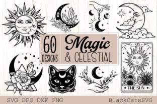 Print on Demand: Magic and Celestial SVG Bundle 60 Design Graphic Crafts By BlackCatsMedia