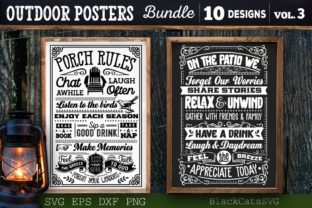 Print on Demand: Outdoor Posters Bundle SVG Camping SVG Graphic Crafts By BlackCatsMedia 2