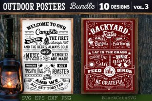 Print on Demand: Outdoor Posters Bundle SVG Camping SVG Graphic Crafts By BlackCatsMedia 4