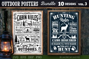 Print on Demand: Outdoor Posters Bundle SVG Camping SVG Graphic Crafts By BlackCatsMedia 5