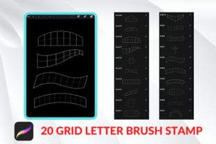 Procreate Lettering Grid BRUSH STAMP Graphic Brushes By 2515 Design