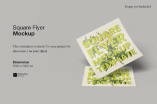 Print on Demand: Square Flyer Mockup Graphic Product Mockups By Ian Mikraz