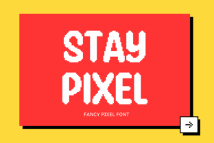 Print on Demand: Stay Pixel Display Font By nhfonts 1