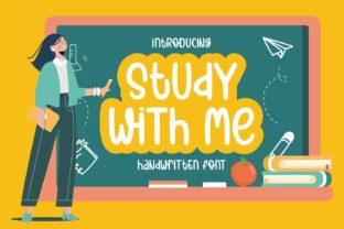 Print on Demand: Study with Me Script & Handwritten Font By Rifki (7ntypes)