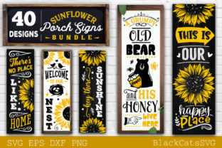 Print on Demand: Sunflower Porch Signs SVG Graphic Crafts By BlackCatsMedia 2