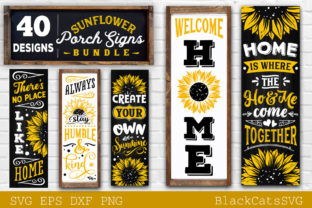 Print on Demand: Sunflower Porch Signs SVG Graphic Crafts By BlackCatsMedia 3