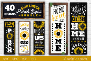 Print on Demand: Sunflower Porch Signs SVG Graphic Crafts By BlackCatsMedia 7