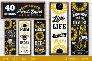 Print on Demand: Sunflower Porch Signs SVG Graphic Crafts By BlackCatsMedia 8