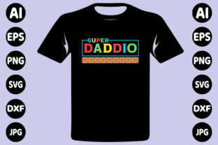 Print on Demand: Super Daddy Father's Day T-shirt Design Graphic Print Templates By creative_design915