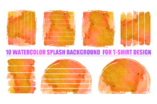 Print on Demand: Watercolor Splash Bundle-2 for T-Shirt Graphic Backgrounds By T-Shirt Tees