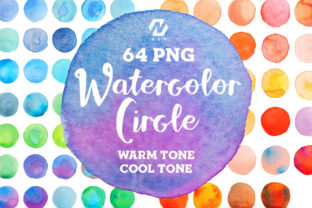 Print on Demand: Watercolor Texture Circle Shape Bundle Graphic Illustrations By nesdigiart