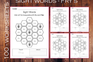 100 Printable Fry Sight Words Worksheets Graphic K By WorksheetsWithFun