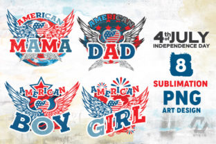 Print on Demand: 4th of July PNG Art Sublimation Bundle Graphic Illustrations By nesdigiart 2