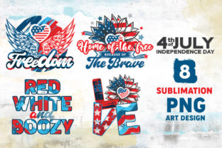 Print on Demand: 4th of July PNG Art Sublimation Bundle Graphic Illustrations By nesdigiart 3
