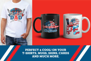 Print on Demand: 4th of July PNG Art Sublimation Bundle Graphic Illustrations By nesdigiart 4
