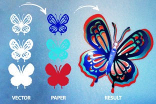 Print on Demand: Butterfly Clipart Bundle Graphic Product Mockups By MosdiStudioTemplate