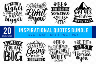 Inspirational Quotes SVG Bundle Graphic Crafts By CraftlabSVG