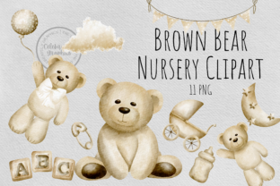 Nursery Teddy Clipart Graphic Illustrations By Celebrately Graphics