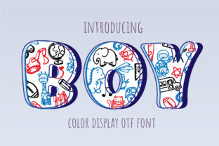 Print on Demand: Boy Display Font By Nobu Collections