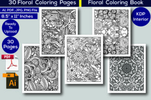 Print on Demand: Floral Coloring Pages KDP Interior Graphic Coloring Pages & Books Adults By KDP Interior 24