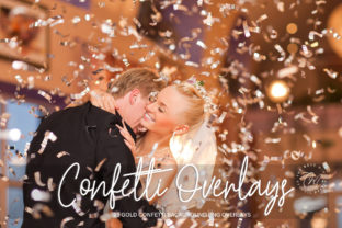 Print on Demand: Gold Confetti Overlays, Confetti Overlay Graphic Layer Styles By The Rose Mind