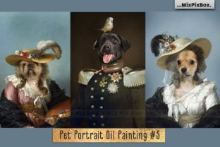Print on Demand: Pet Portrait Oil Background V.5 Graphic Layer Styles By MixPixBox