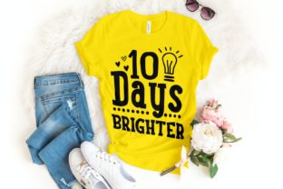 100 Days Brighter Svg| 100 Days | School Graphic Illustrations By VectorEnvy
