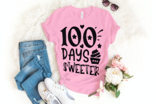100 Days Sweeter Svg | 100 Days | School Graphic Illustrations By VectorEnvy
