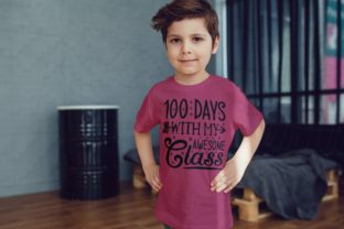 100 Days with My Awesome Class Svg Graphic Illustrations By VectorEnvy