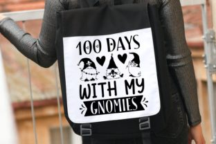 100 Days with My Gnomies | School Svg Graphic Illustrations By VectorEnvy