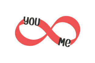 You & Me Infinity Symbol Anniversary Craft Cut File By Creative Fabrica Crafts