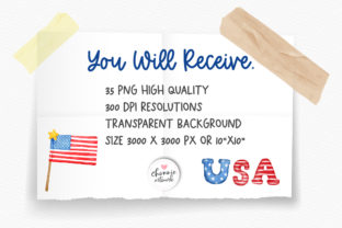 Print on Demand: 4th of July Gnome Clipart, Patriotic PNG Graphic Illustrations By Chonnieartwork 4