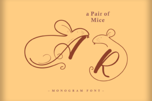 Print on Demand: A Pair of Mice Decorative Font By nryntdw