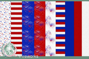 Print on Demand: Backgrounds   Fireworks Papers Graphic Backgrounds By QueenBrat Digital Designs