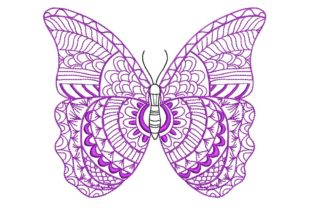 Print on Demand: Butterfly Bugs & Insects Embroidery Design By ArtEMByNatali