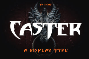Print on Demand: Caster Display Font By Arendxstudio