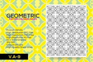 Print on Demand: Coloring Pages Geometric Pattern for Kdp Graphic Coloring Pages & Books Adults By nur_vector