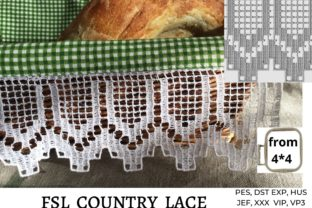 Country Lace Kitchen & Cooking Embroidery Design By LaceArtDesigns