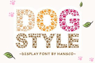 Print on Demand: Dog Style Decorative Font By HansCo 1