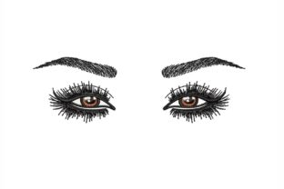 Eyes Beauty Embroidery Design By NinoEmbroidery