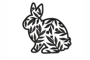 Floral Bunny Animals Embroidery Design By SonyaEmbroideryStore
