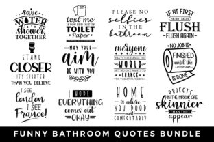 Funny Bathroom Sayings Sign SVG Bundle Graphic Crafts By CraftlabSVG