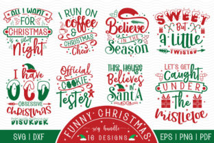 Funny Christmas SVG Bundle - 16 Designs Graphic Crafts By CraftlabSVG